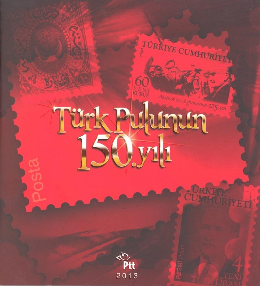 Türk pulunun 150. yılı portföyü kapak
