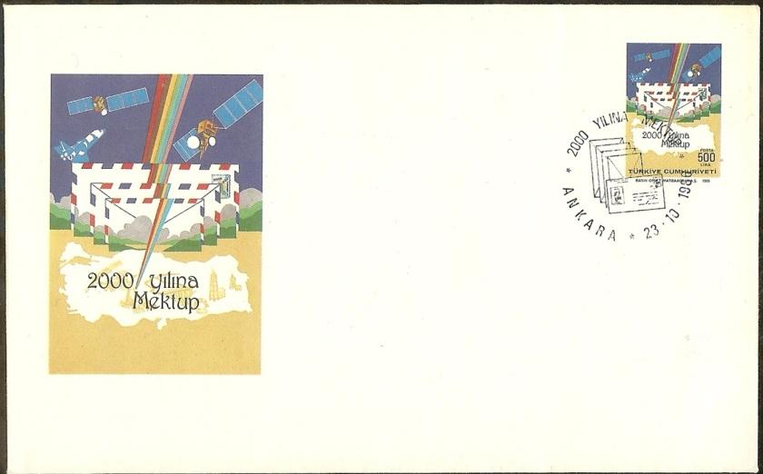 2000 yılına mektup antiye zarf - 23 Ekim 1986