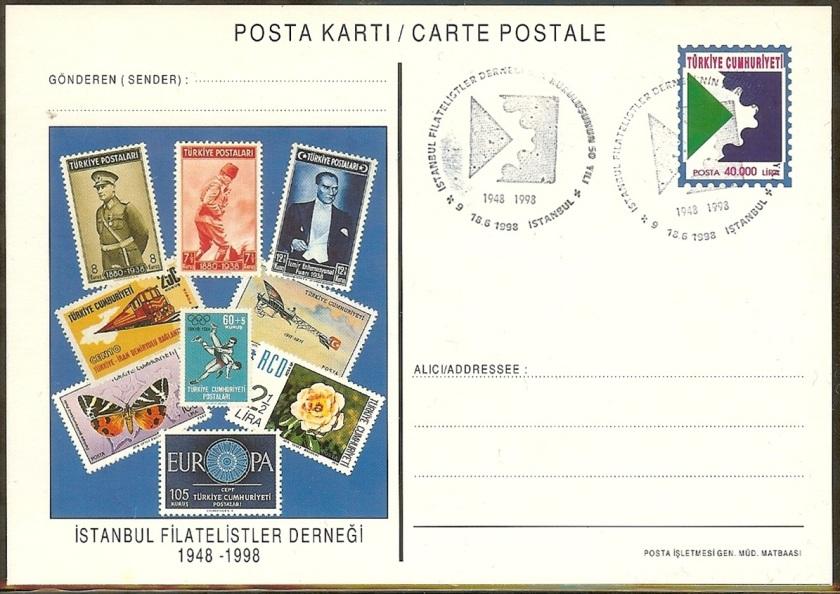 İstanbul Filatelistler derneği 50. yıl - 18 Haziran 1998