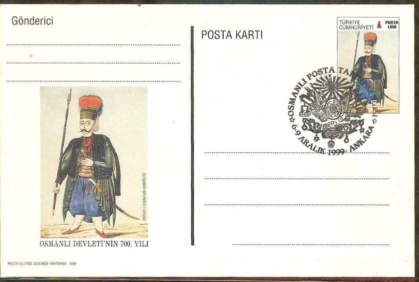 Osmanlı posta tarihi sergisi antiyeleri - 6 Aralık 1999
