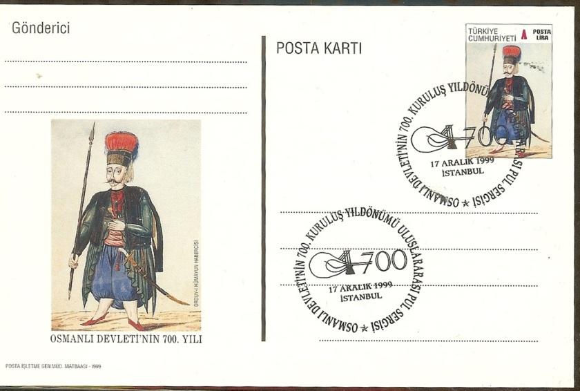Osmanlının 700. yılı pul sergisi - Kapanış 17 Aralık 1999