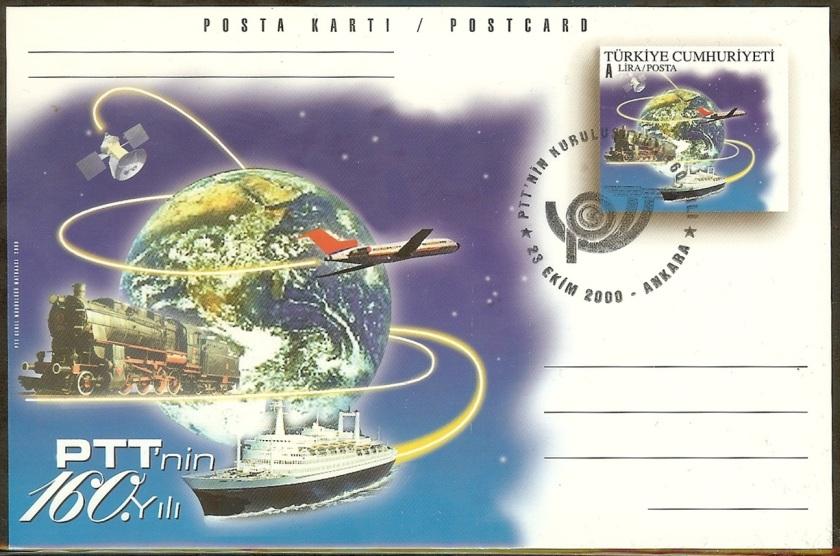 PTTnin 160. yılı antiyeleri - 23 Ekim 2000