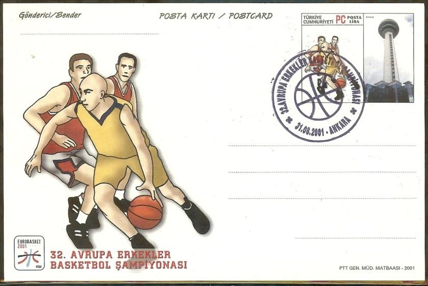 32. Avrupa basketbol Şampiyonası antiyeleri - 31Ağustos 2001