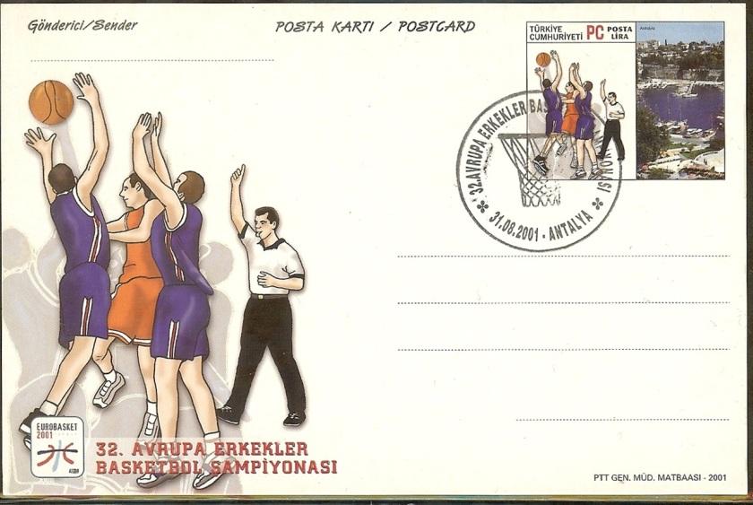 32. Avrupa basketbol Şampiyonası antiyeleri - 31 Ağustos 2001