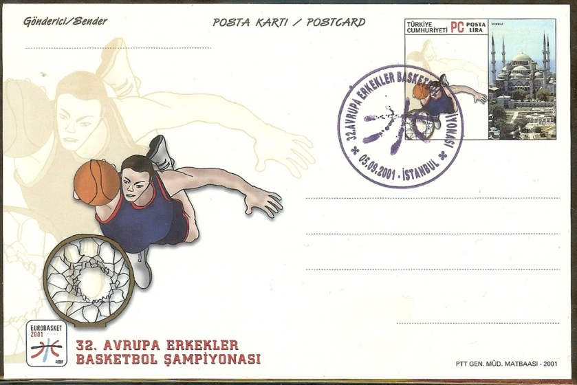 32. Avrupa basketbol Şampiyonası antiyeleri - 05 Eylül 2001