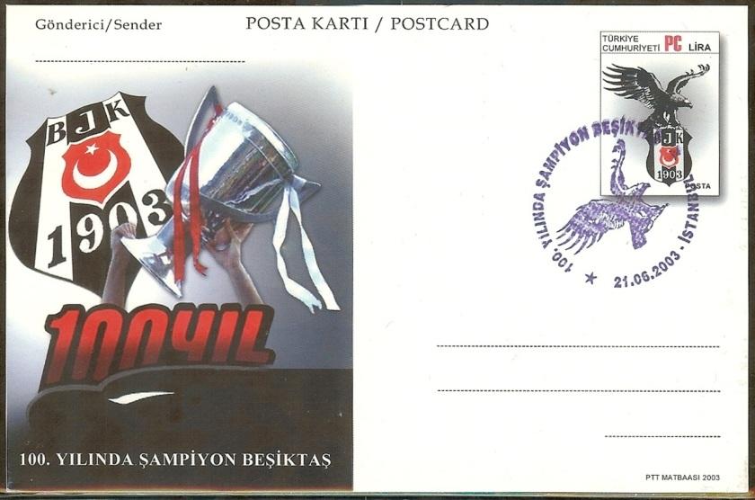 Beşiktaşın 100. yılı antiyeleri - 21 Haziran 2003