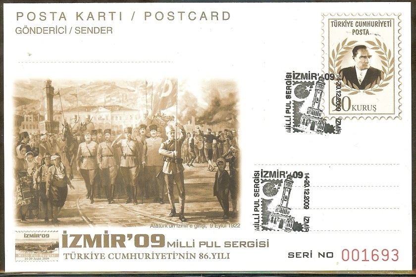 İzmir milli pul sergisi antiyeleri - 14 Aralık 2009