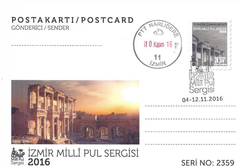 İzmir milli pul sergisi antiyeleri - 4 Kasım 2016