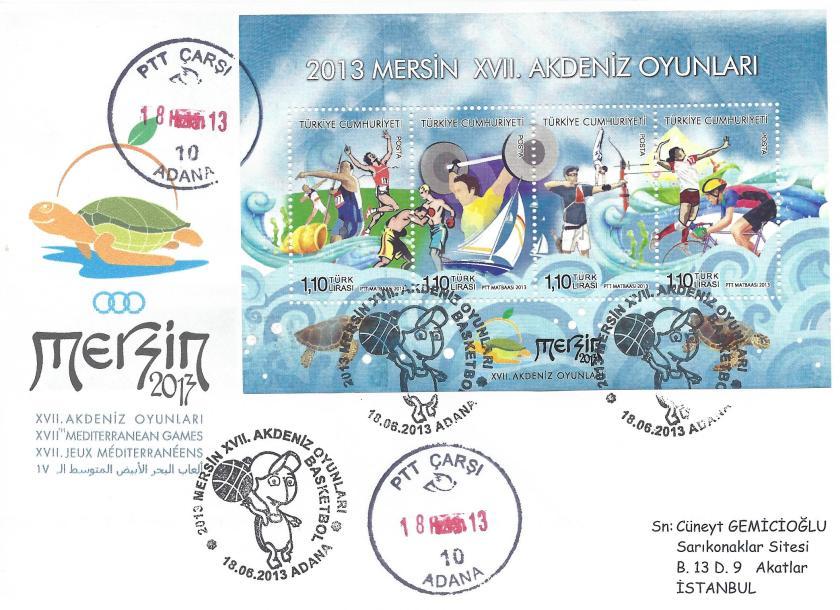 Akdeniz Oyunları Basketbol damgası Adana