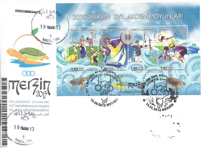 Akdeniz Oyunları Artistik Jimnastik damgası Mersin