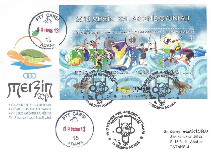 Akdeniz Oyunları Artistik Jimnastik damgası Adana