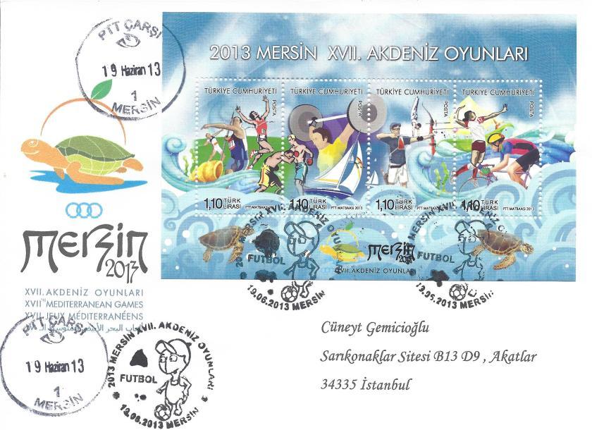 Akdeniz Oyunları Futbol damgası Mersin