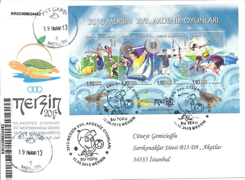 Akdeniz Oyunları Su topu damgası Mersin