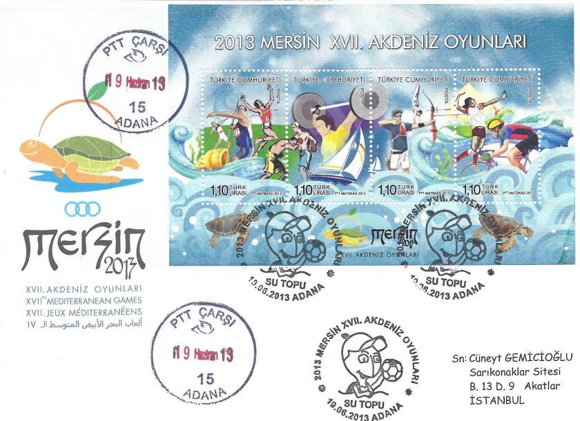 Akdeniz Oyunları Su topu damgası Adana