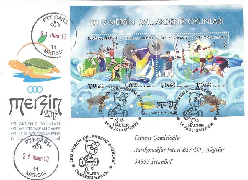 Akdeniz Oyunları Halter damgası Mersin