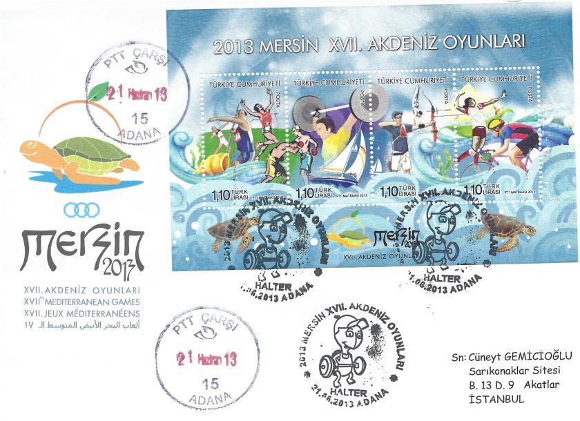 Akdeniz Oyunları Halter damgası Adana
