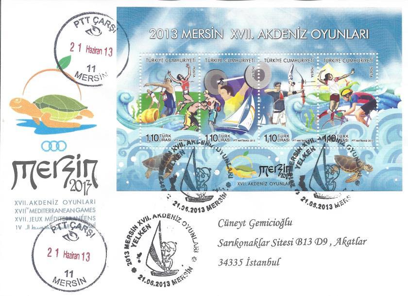 Akdeniz Oyunları Yelken damgası Mersin