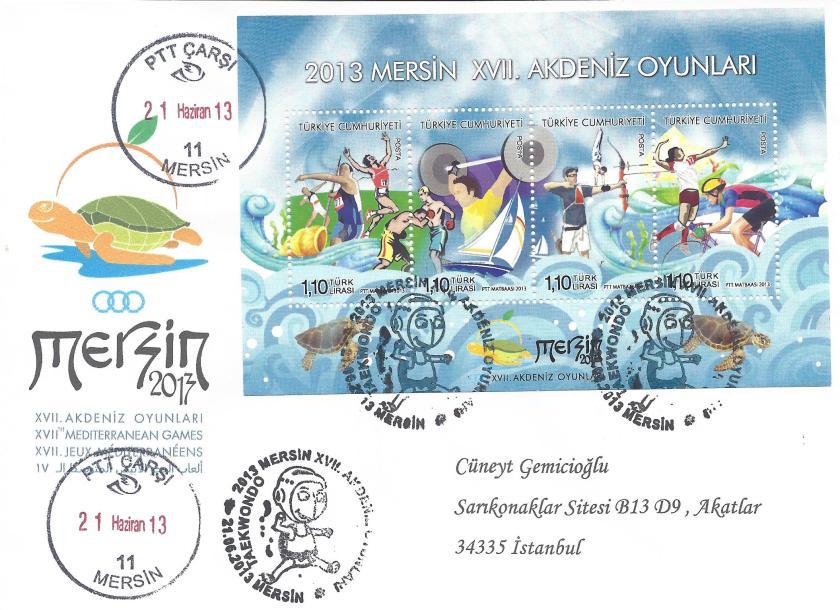 Akdeniz Oyunları Taekwondo damgası Mersin