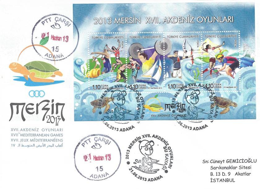 Akdeniz Oyunları Su Kayağı damgası Adana