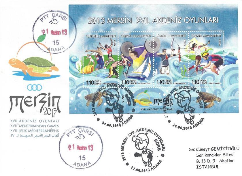 Akdeniz Oyunları Boks damgası Adana