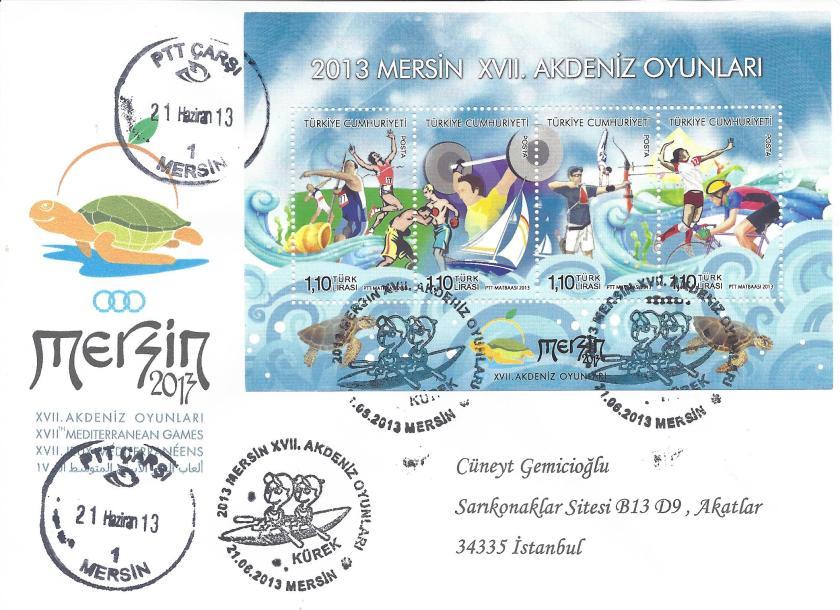 Akdeniz Oyunları Kürek damgası Mersin