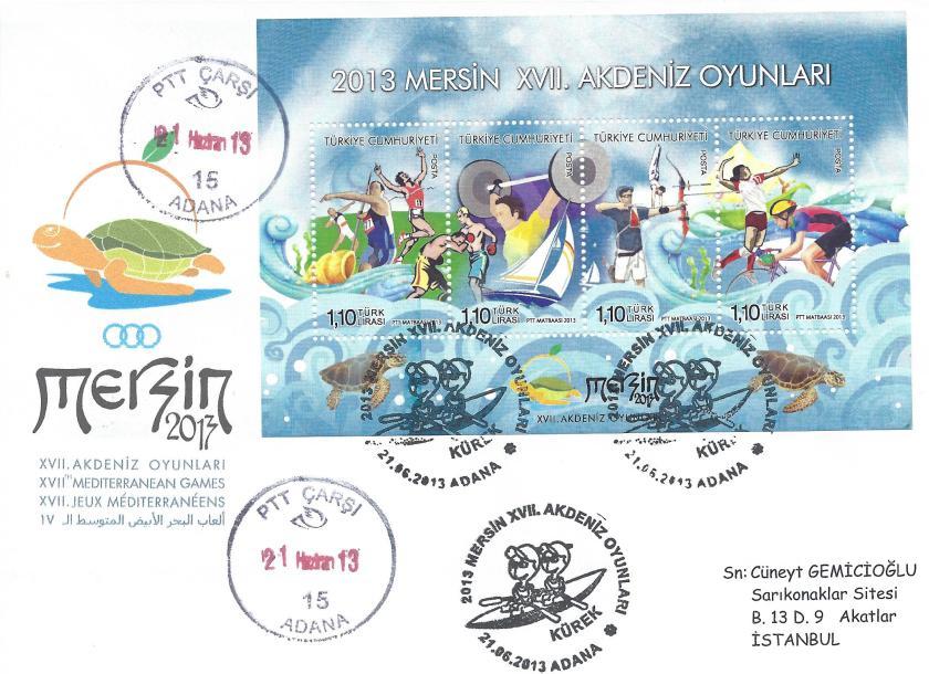 Akdeniz Oyunları Kürek damgası Adana