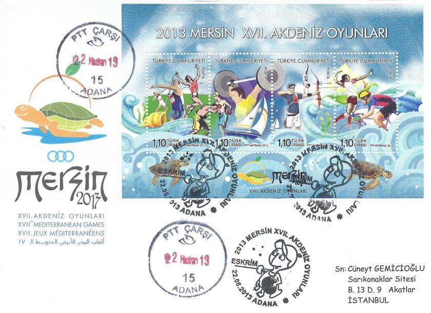 Akdeniz Oyunları Eskrim damgası Adana