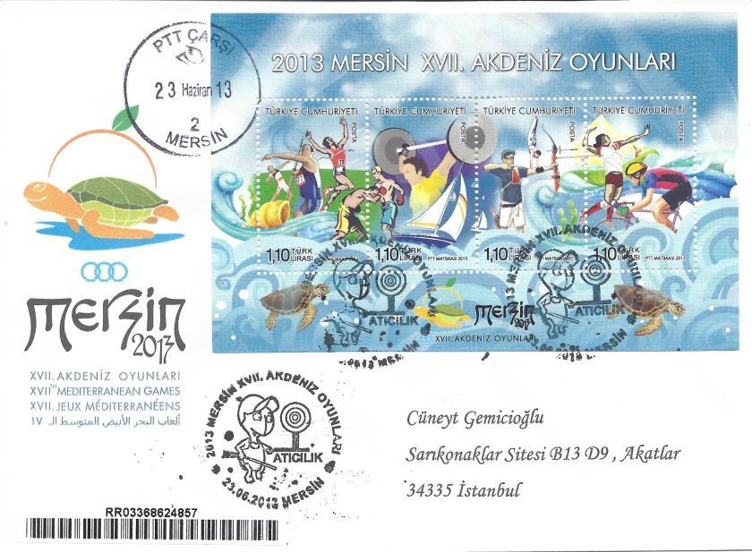 Akdeniz Oyunları Atıcılık damgası Mersin