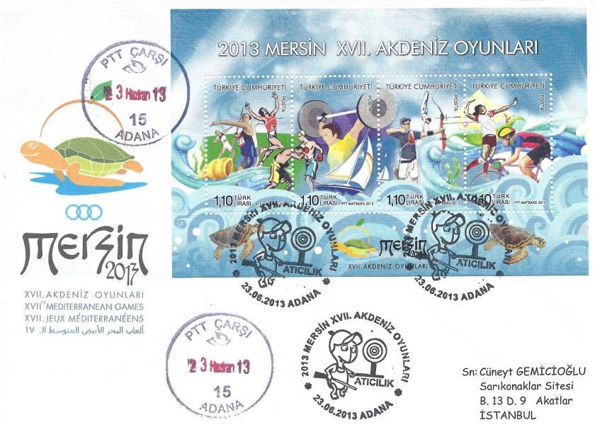 Akdeniz Oyunları Atıcılık damgası Adana