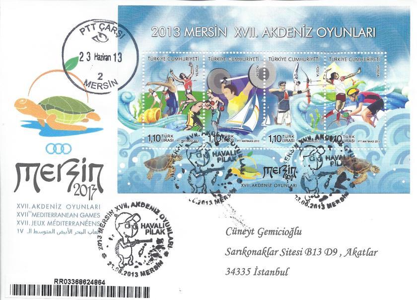 Akdeniz Oyunları Havalı Pilak damgası Mersin