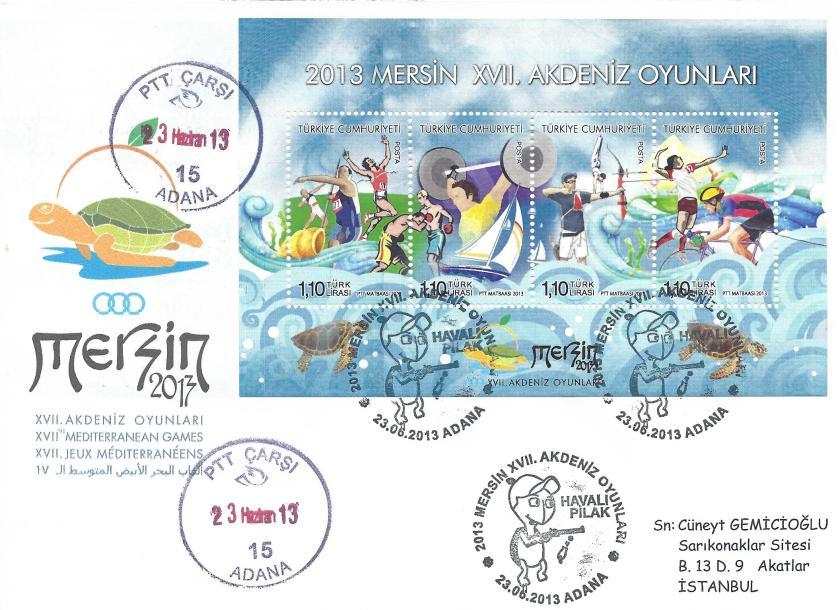 Akdeniz Oyunları Havalı Pilak damgası Adana