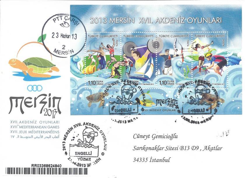 Akdeniz Oyunları Engelli Yüzme damgası Mersin