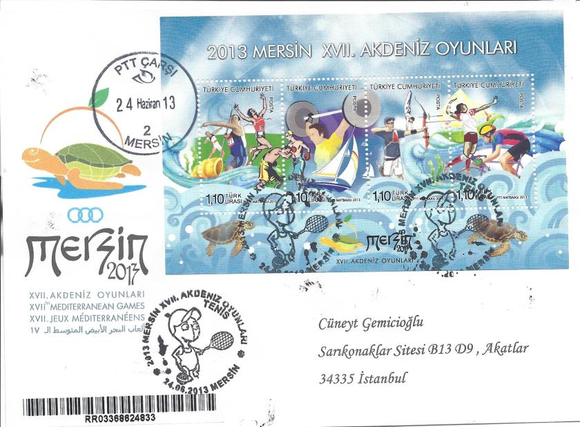 Akdeniz Oyunları Tenis damgası Mersin