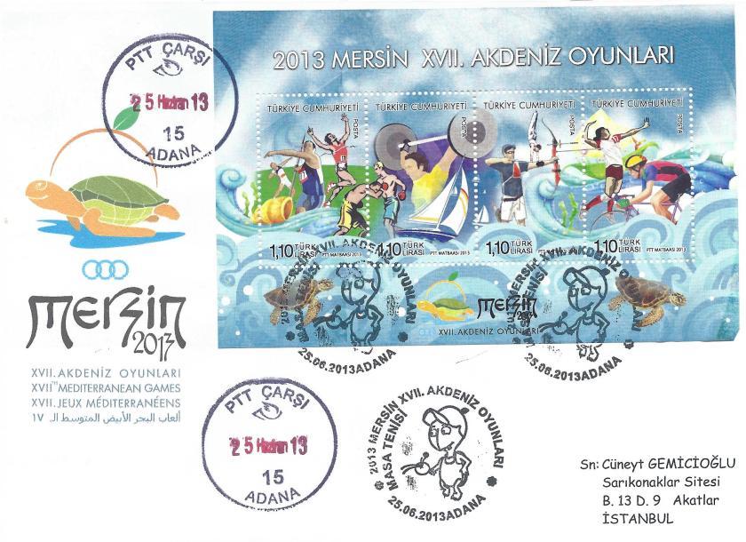 Akdeniz Oyunları Masa Tenisi damgası Adana