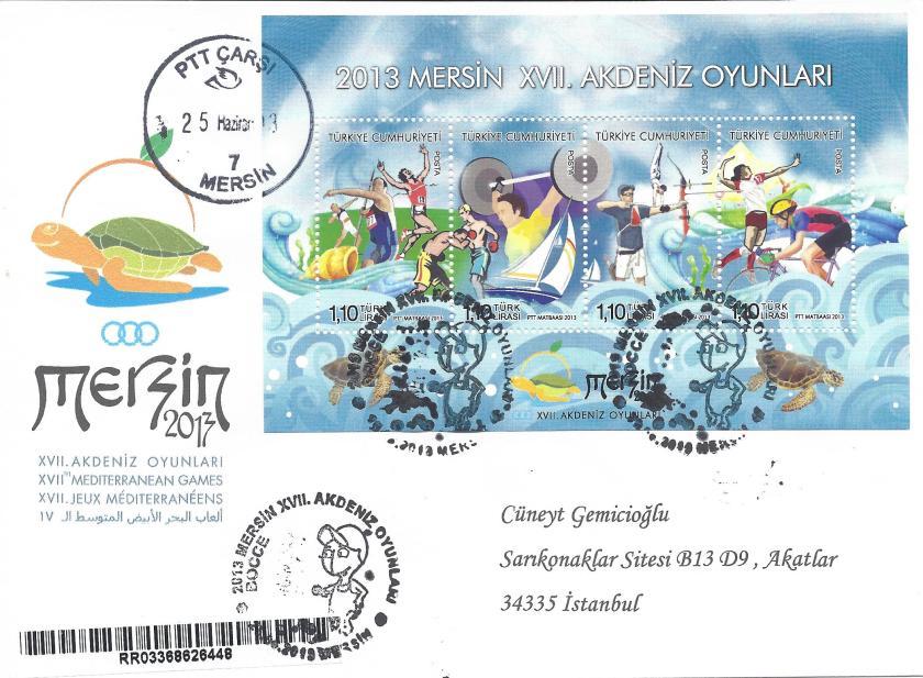 Akdeniz Oyunları Bocce damgası Mersin