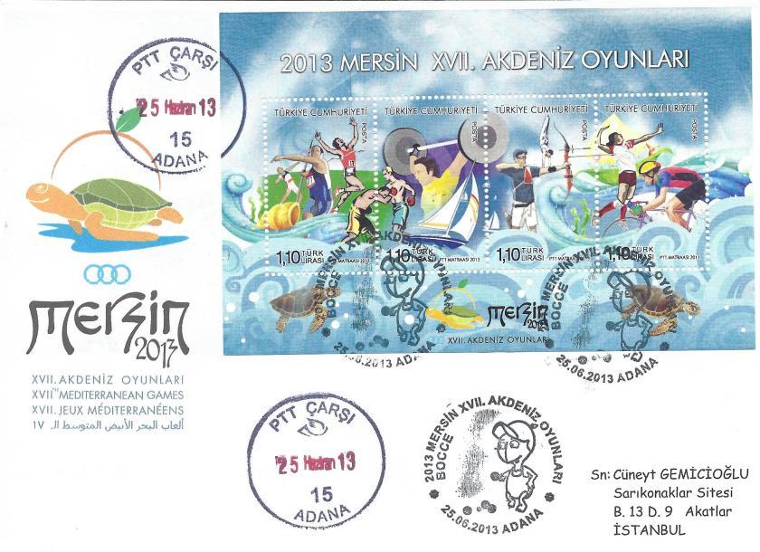 Akdeniz Oyunları Bocce damgası Adana