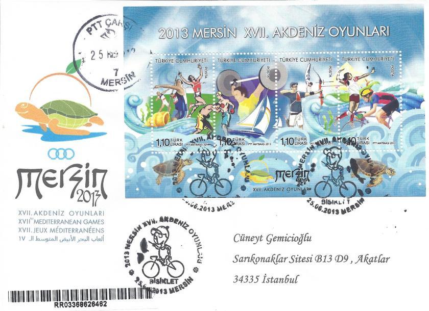 Akdeniz Oyunları Bisiklet damgası Mersin