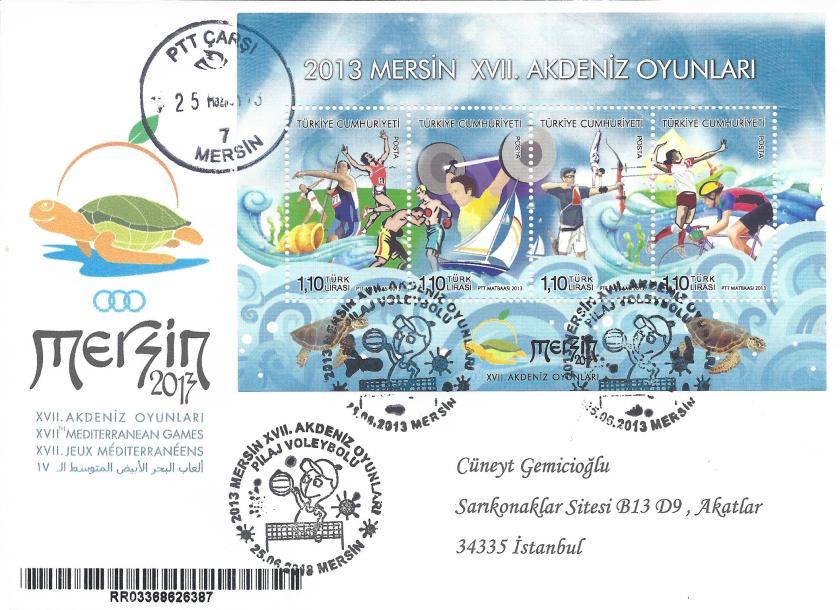 Akdeniz Oyunları Pilaj Voleybolu damgası Mersin