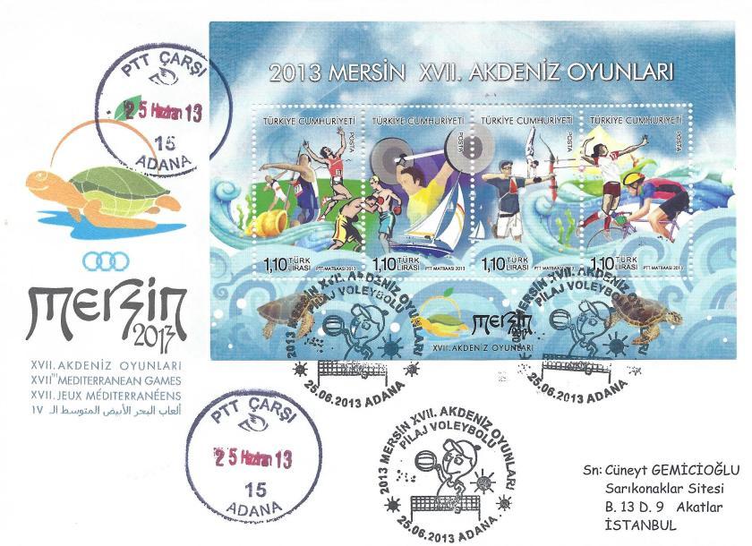 Akdeniz Oyunları Pilaj Voleybolu damgası Adana