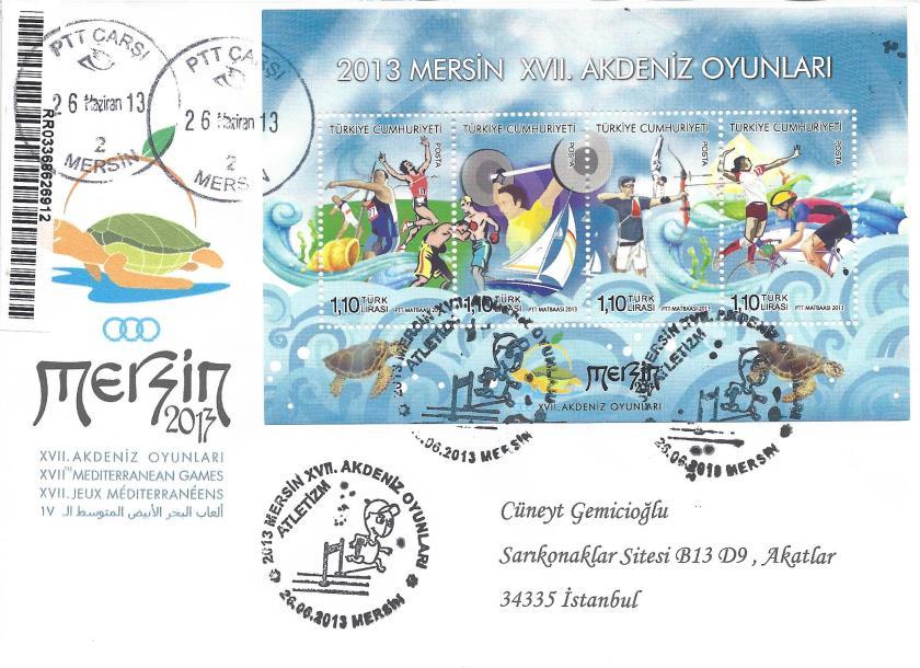 Akdeniz Oyunları Atletizm damgası Mersin
