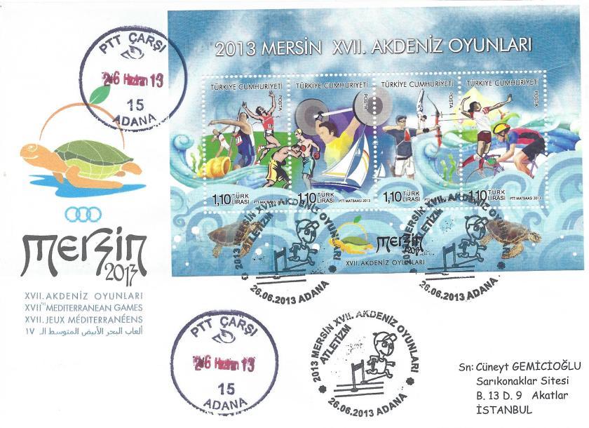 Akdeniz Oyunları Atletizm damgası Adana
