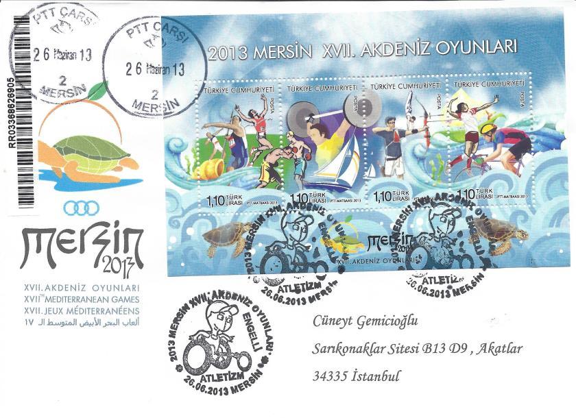 Akdeniz Oyunları Engelli Atletizm damgası Mersin