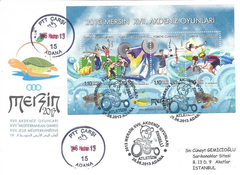 Akdeniz Oyunları Engelli Atletizm damgası Adana
