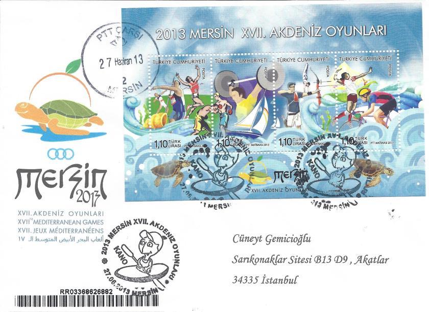 Akdeniz Oyunları Kano damgası Mersin
