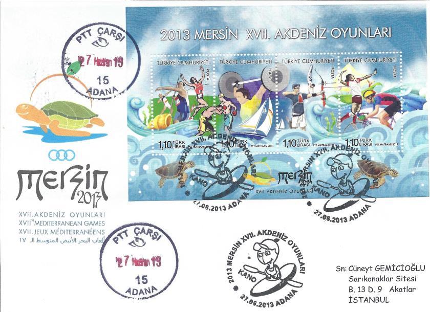 Akdeniz Oyunları Kano damgası Adana