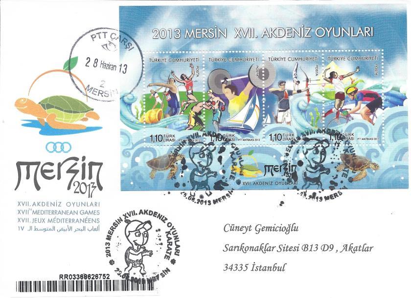 Akdeniz Oyunları Karate damgası Mersin