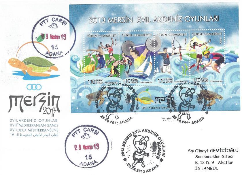 Akdeniz Oyunları Karate damgası Adana