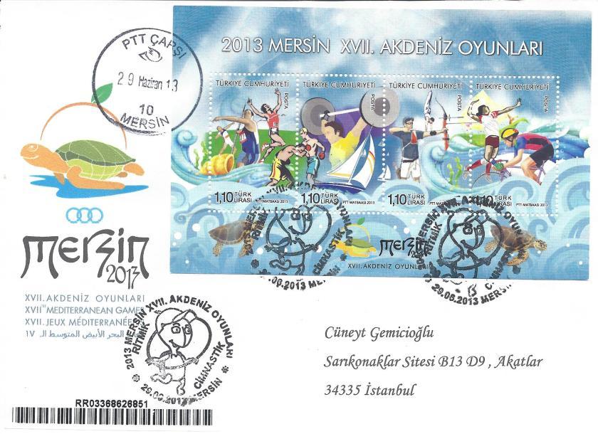 Akdeniz Oyunları Jimnastik damgası Mersin