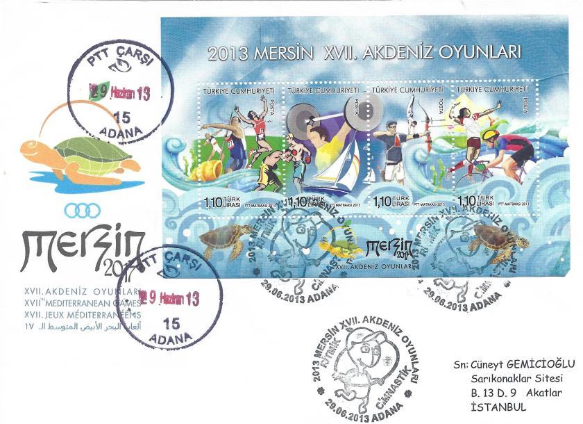 Akdeniz Oyunları Jimnastik damgası Adana