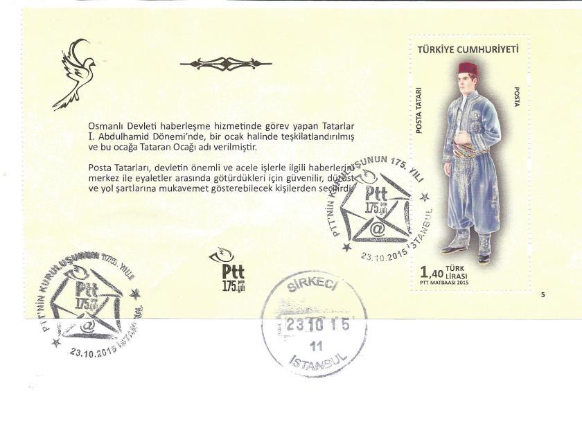 Posta Tatarı resimli ilk gün zarfı